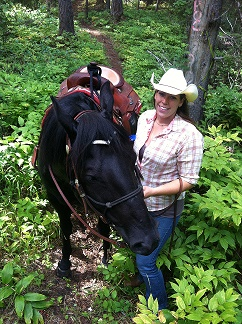 Team member Joanna with her horse